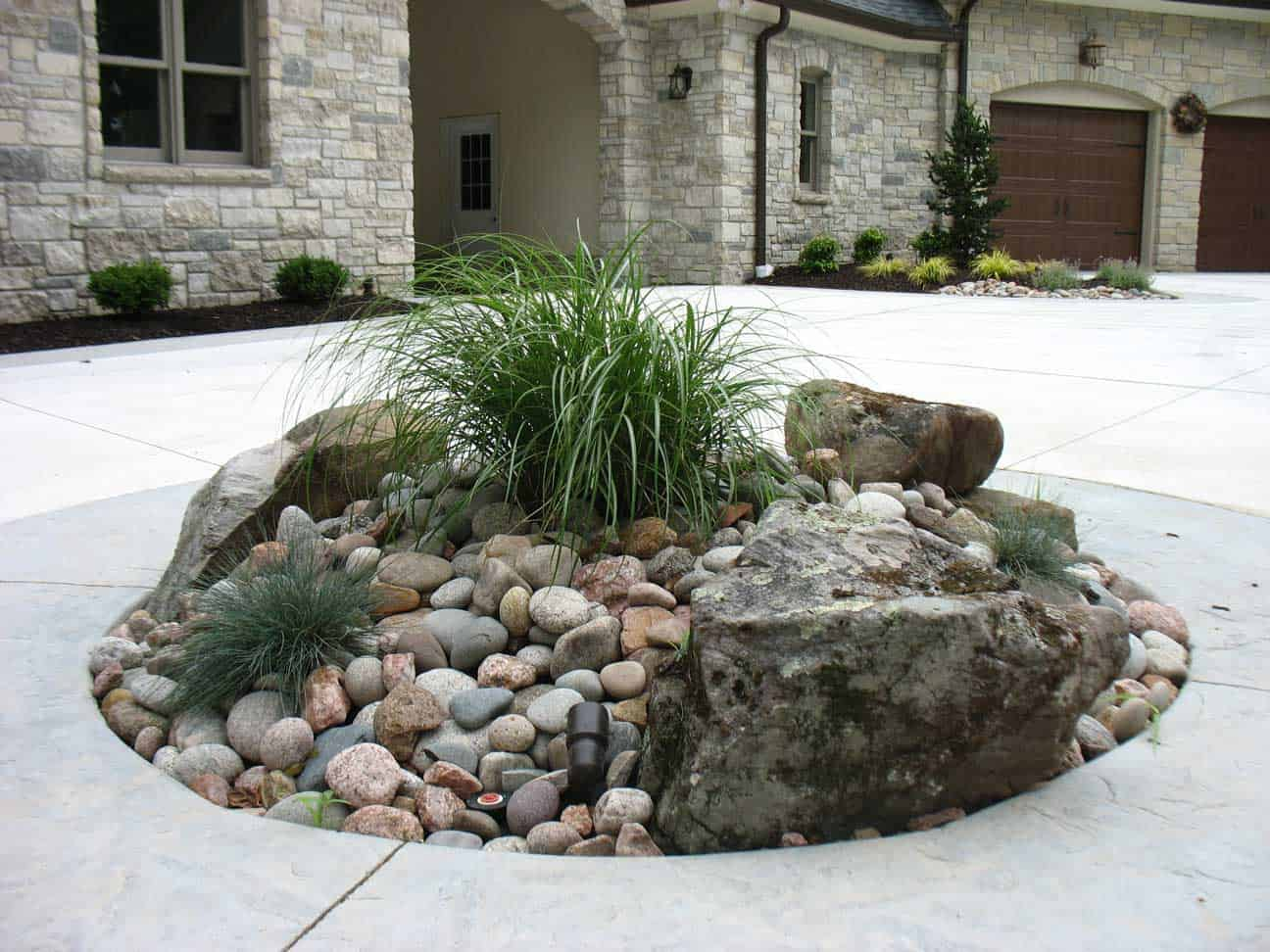 Driveway Landscaping Rocks After Passiglias