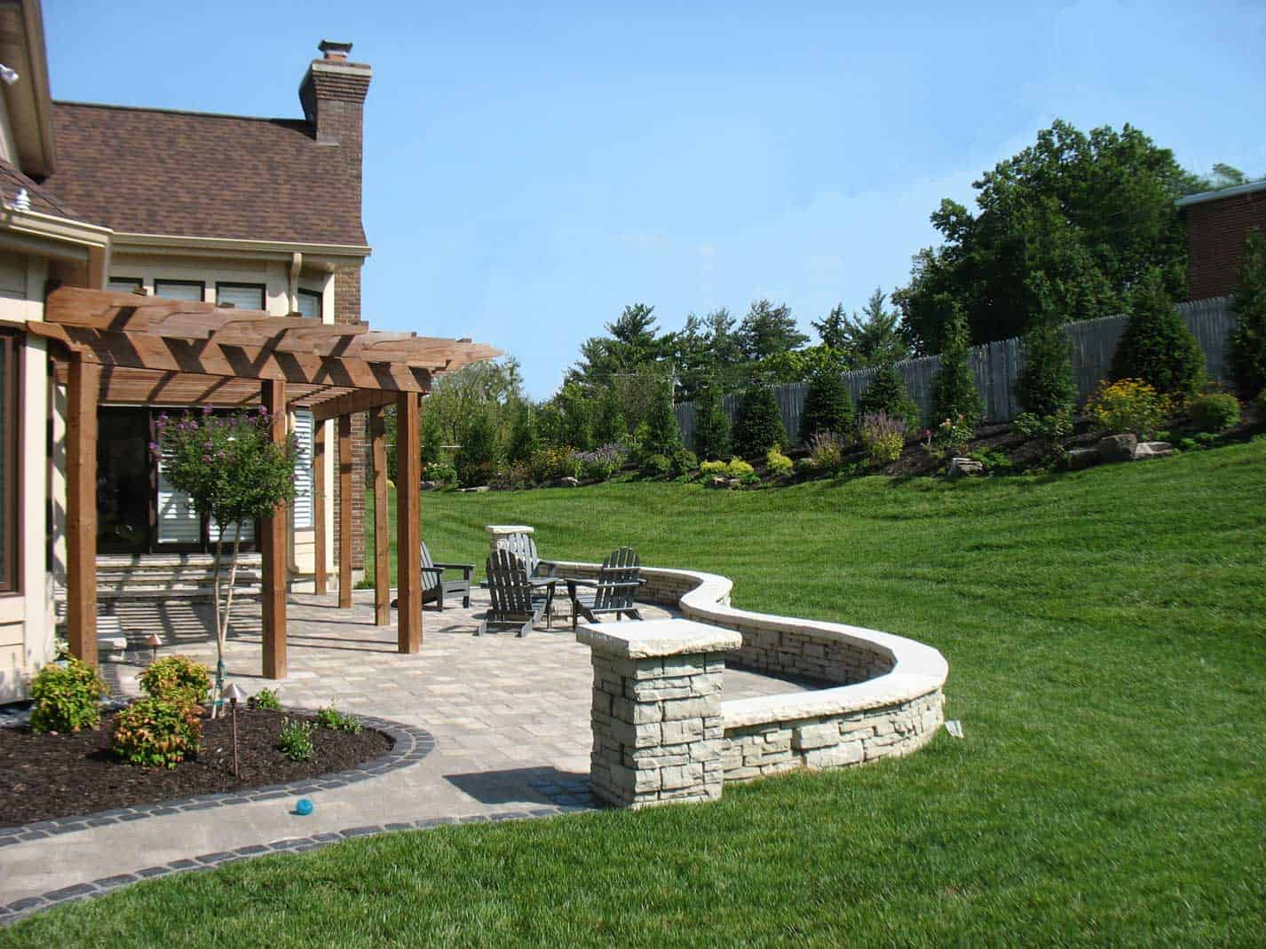 Backyard landscape design passiglia nursery st louis for Landscape design st louis